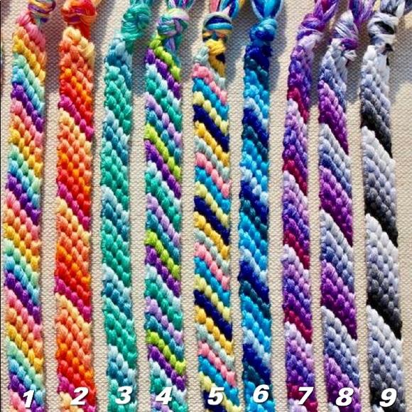 Blue stripe friendship bracelet